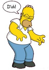 Homer Simpson D'oh!