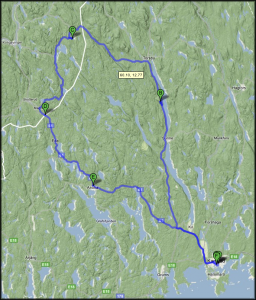 Vår roadtrip i kartformat [Google Maps]