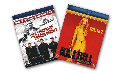 "Filmfynd, ""Lock, Stock and Two Smoking Barrels"" samt ""Kill Bill vol 1 & 2"""